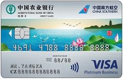 南航明珠联名信用卡(Visa水版白金卡)
